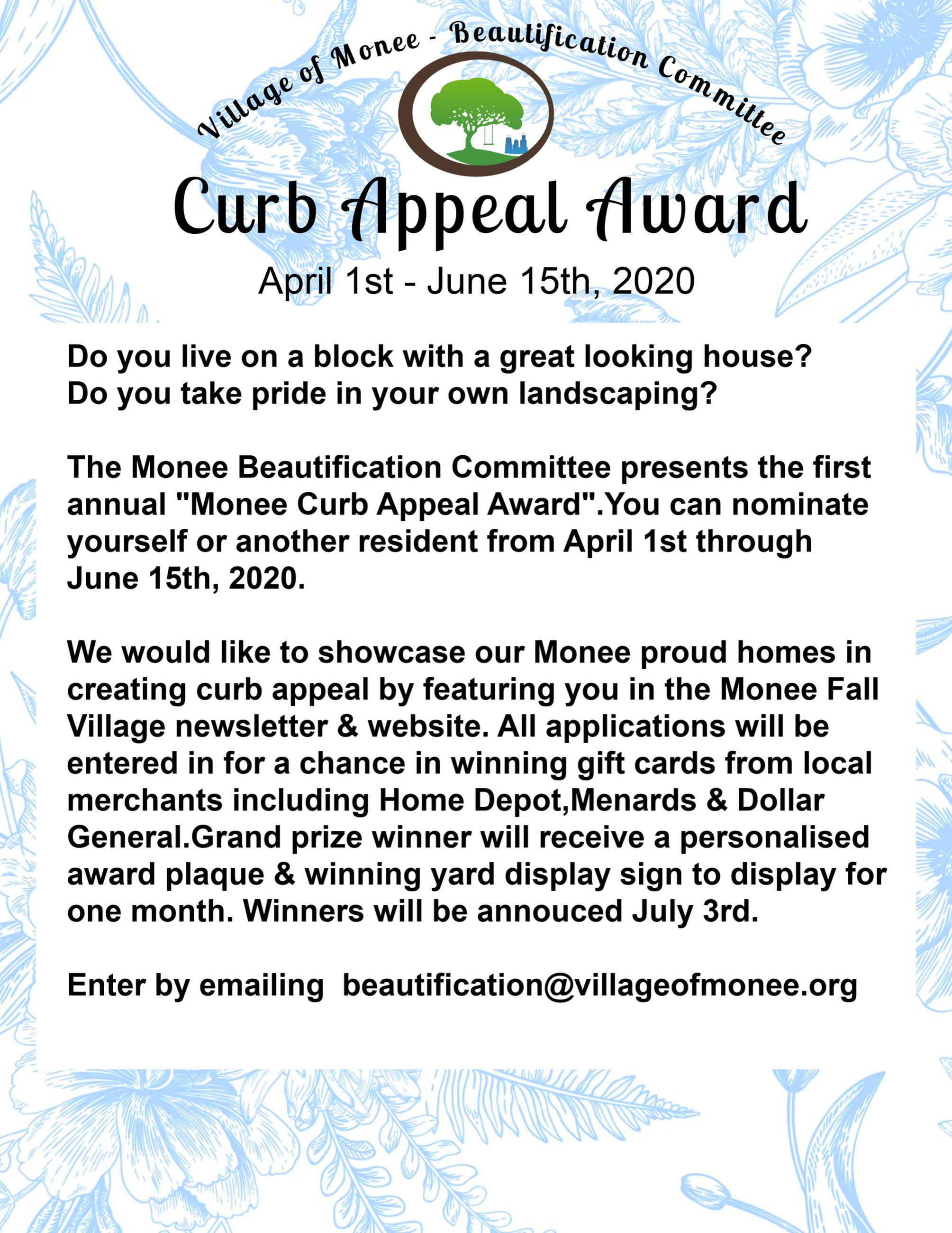 Curb Appeal Award 2020