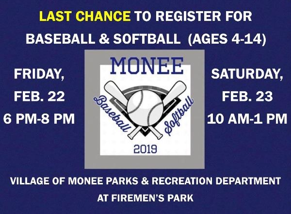 Last chance for baseball & softball registration