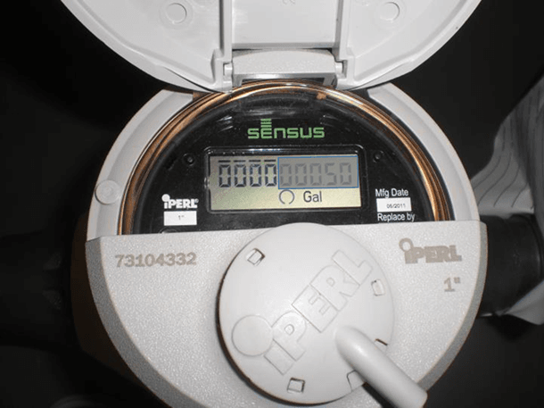 0.5 Gallons Shaded Water Meter Example
