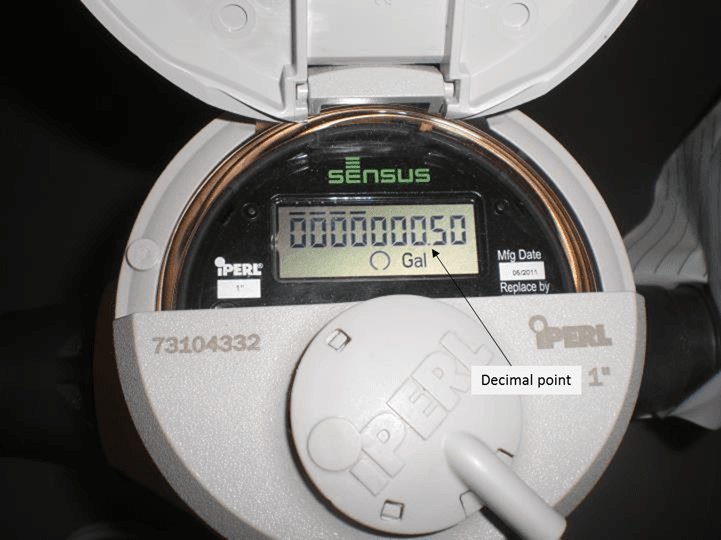 0.5 Gallons Water Meter Example